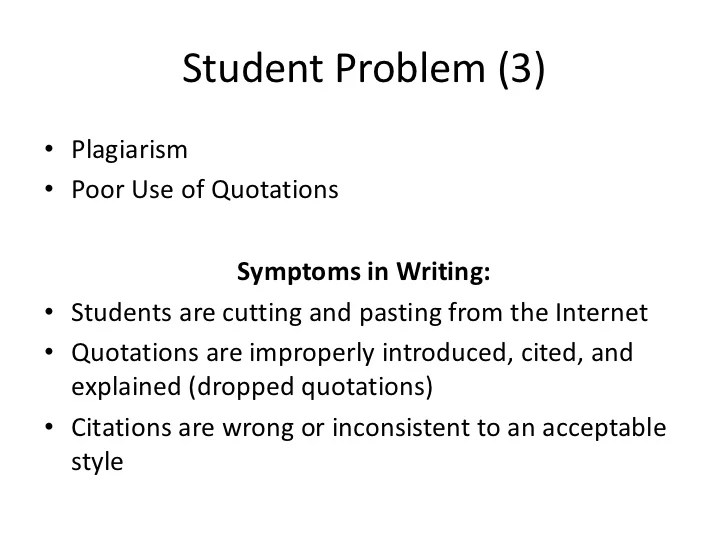 Student Writing Problems Faculty Challenges & Solutions