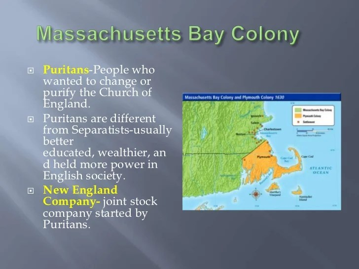 Plymouth And Mass Bay Colonies