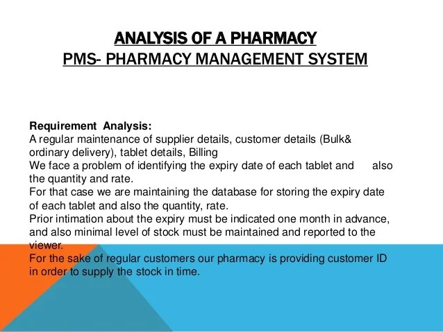 Pharmacy management system project