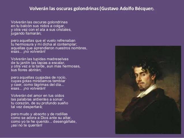 Volveran Las Oscuras Golondrinas Gustavo Adolfo Becquer Poemas De Amor Cute766