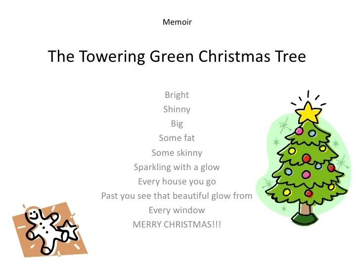 images Christmas Tree Poem Short slideshare