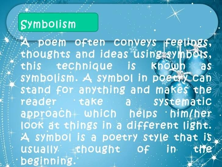 Poems That Have Symbolism