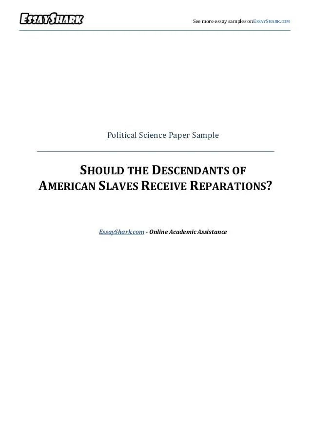 Political Science Essay Political Science Paper Sample Yale