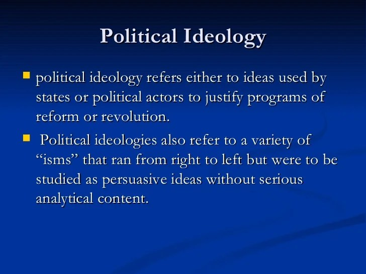 Political theory vs political ideology2