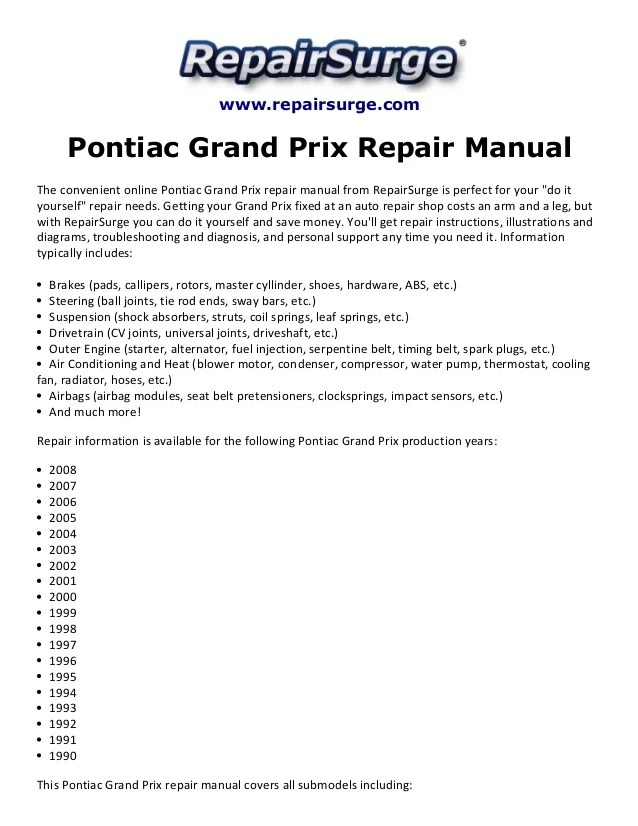 grand prix parts diagram yamaha kodiak 400 wiring 2004 gtp nemetas aufgegabelt info 2000 pontiac example electrical rh huntervalleyhotels co