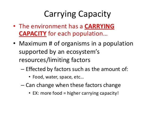 Populaiton Growth And Carrying Capacity Cer