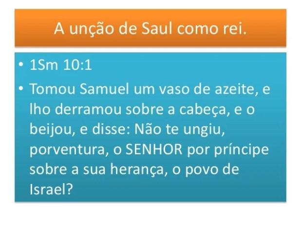 Mas o rei Saul foi desobediente.. • 1Sm 15:26 Samuel porém disse a Saul: Não voltarei contigo; porquanto rejeitaste a pala...