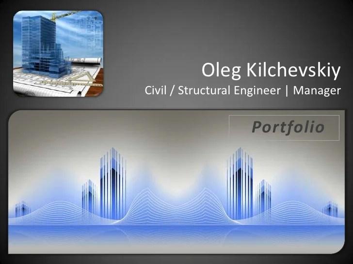 Portfolio Civil Structural Engineer Designer Manager