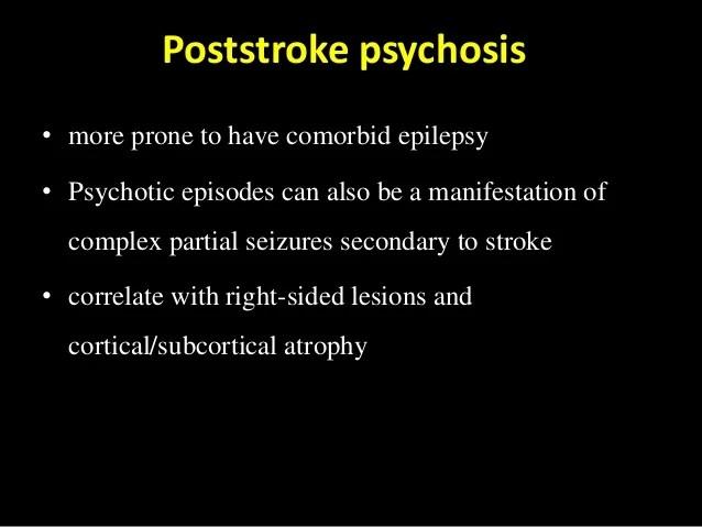 Post Stroke Psychiatric Symptoms