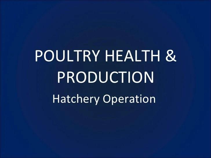 Poultry Management Lecture