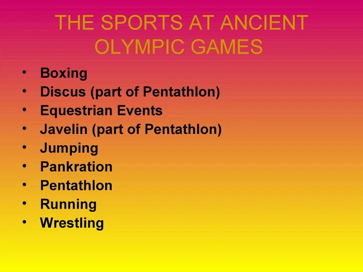Ancient Games Wrestling Greece Olympic
