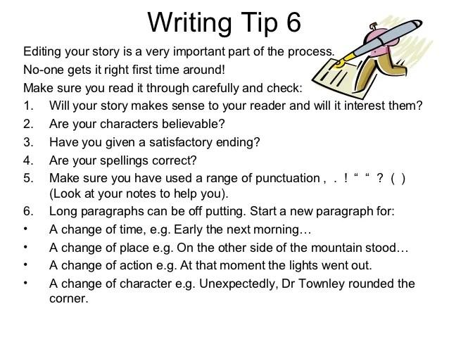 Power point narrative writingtips