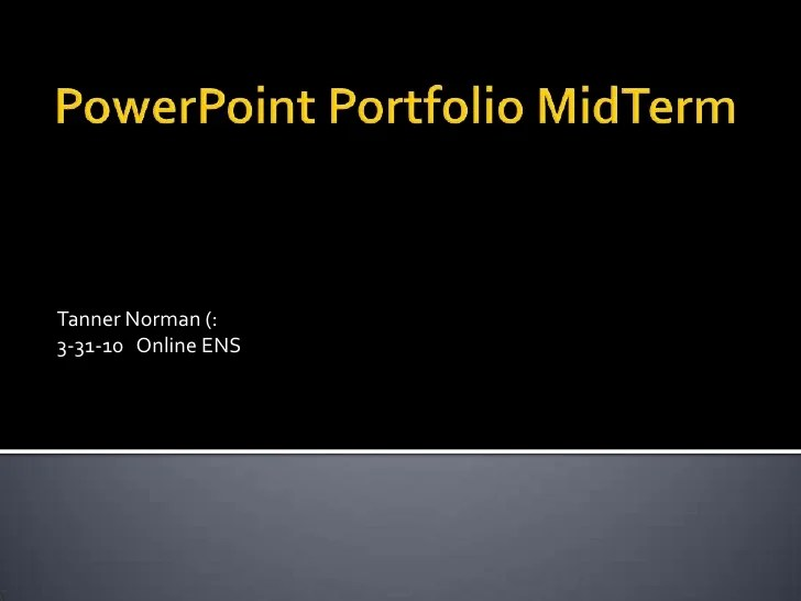 PowerPoint Portfolio