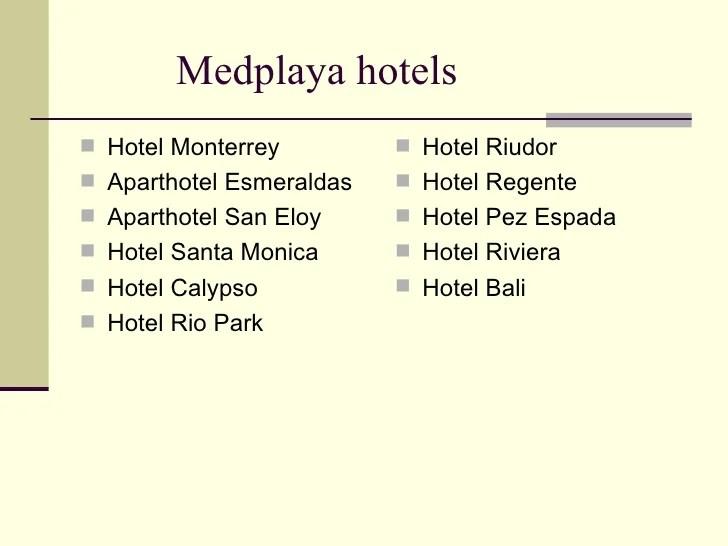 Med Playa Hotels In Spain