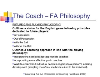 The Best Coaching Philosophy
