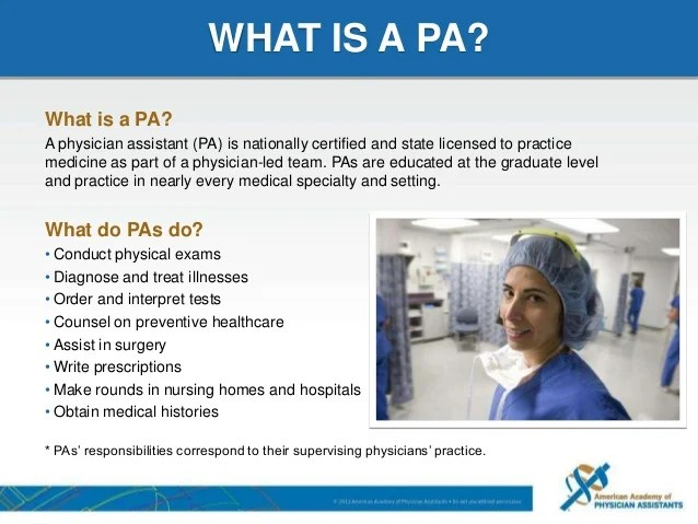 Image result for what is a physician assistant