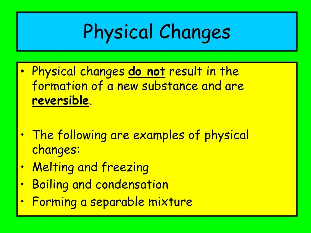 Ppt Chemical Or Physical Reaction