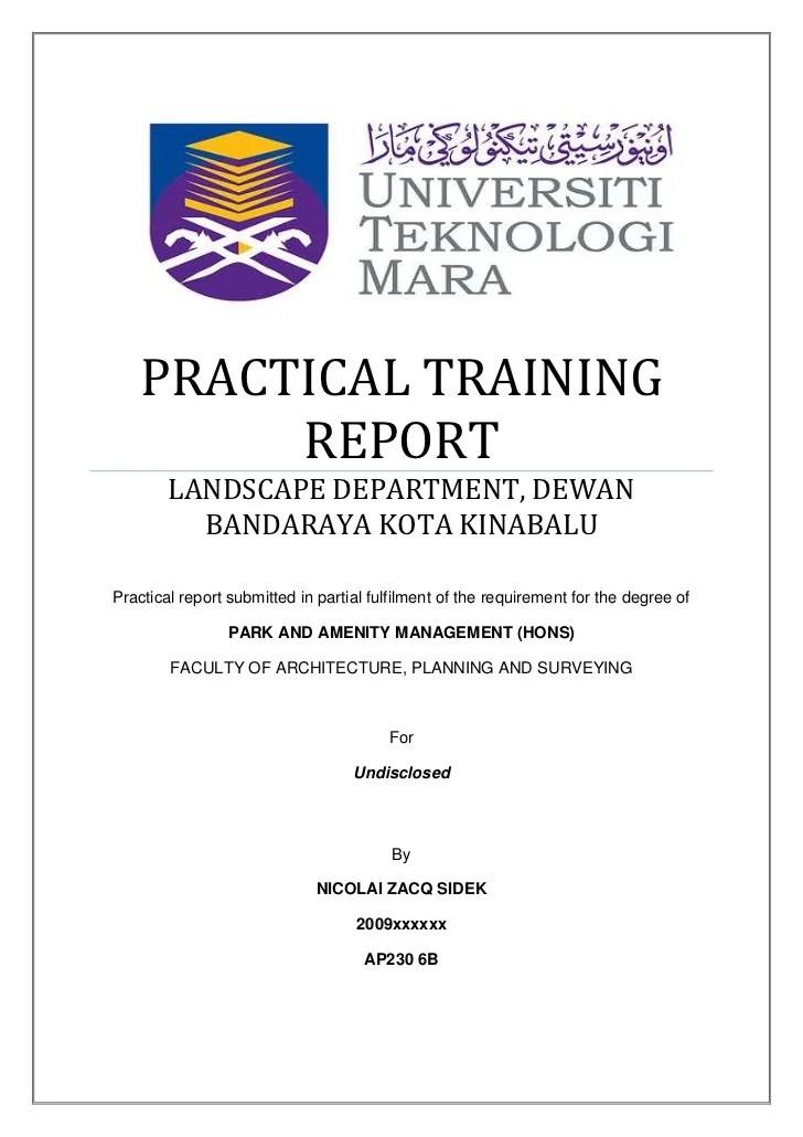 Practical Training Report