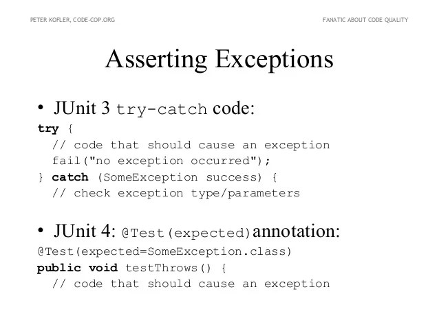 Junit Expected Exception Not Working - Desain Terbaru Rumah Modern