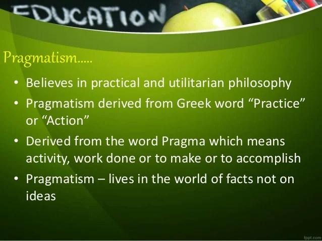 philosophy of education  Pragmatism
