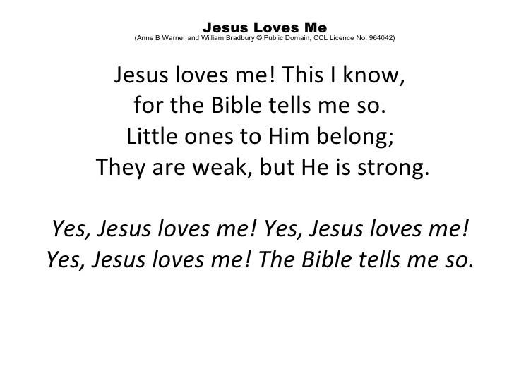 Yes Jesus Love Me Lyrics