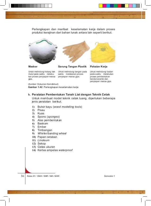Jelaskan Proses Penyiapan Dan Pembuatan Gips Untuk Teknik Cetak : jelaskan, proses, penyiapan, pembuatan, untuk, teknik, cetak, Prakarya, Semester, Kelas