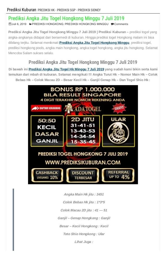 Angka Main Hk Mlm Ini : angka, Prediksi, Angka, Togel, Hongkong, Minggu