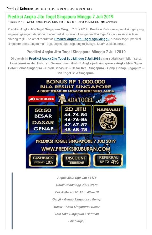 Bocoran Sgp Minggu : bocoran, minggu, Prediksi, Angka, Togel, Singapura, Minggu