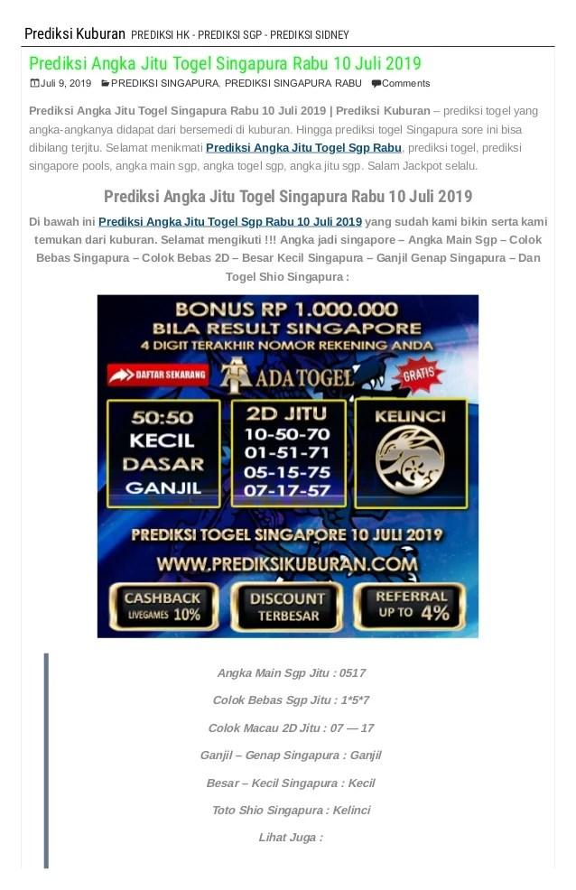 Prediksi Sgp Rabo : prediksi, Prediksi, Angka, Togel, Singapura, 2019