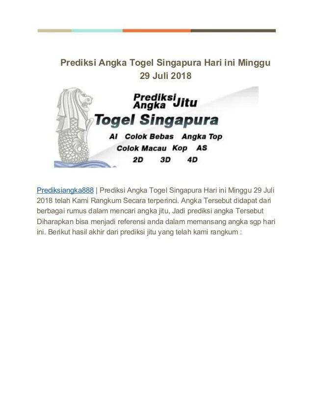 Angka Top Kamis : angka, kamis, Prediksi, Angka, Togel, Singapura, Minggu