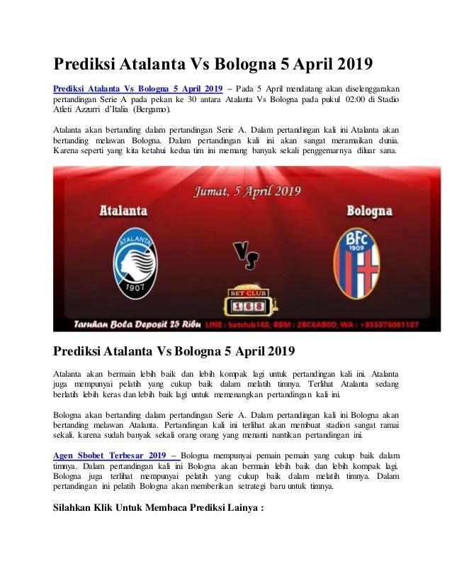Prediksi Atalanta Vs Parma : prediksi, atalanta, parma, Prediksi, Atalanta, Bologna, April