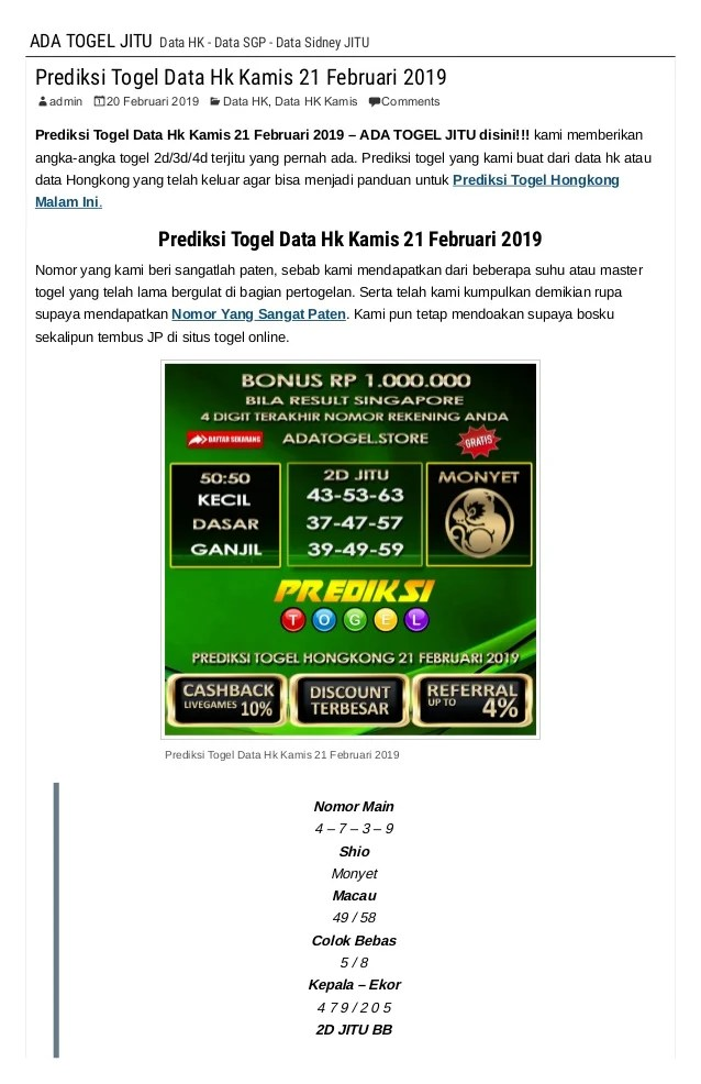 Prediksi Hk Master Hongkong Kamis : prediksi, master, hongkong, kamis, Prediksi, Togel, Kamis, Februari