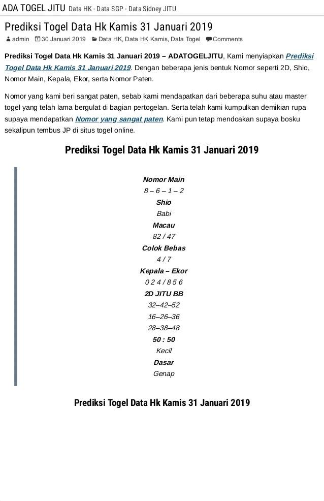 Prediksi Master Hk Kamis : prediksi, master, kamis, Prediksi, Togel, Kamis, Januari