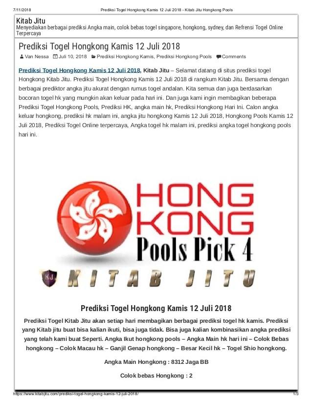 Hk Pools Jitu : pools, Prediksi, Togel, Hongkong, Kamis, Kitab, Pools