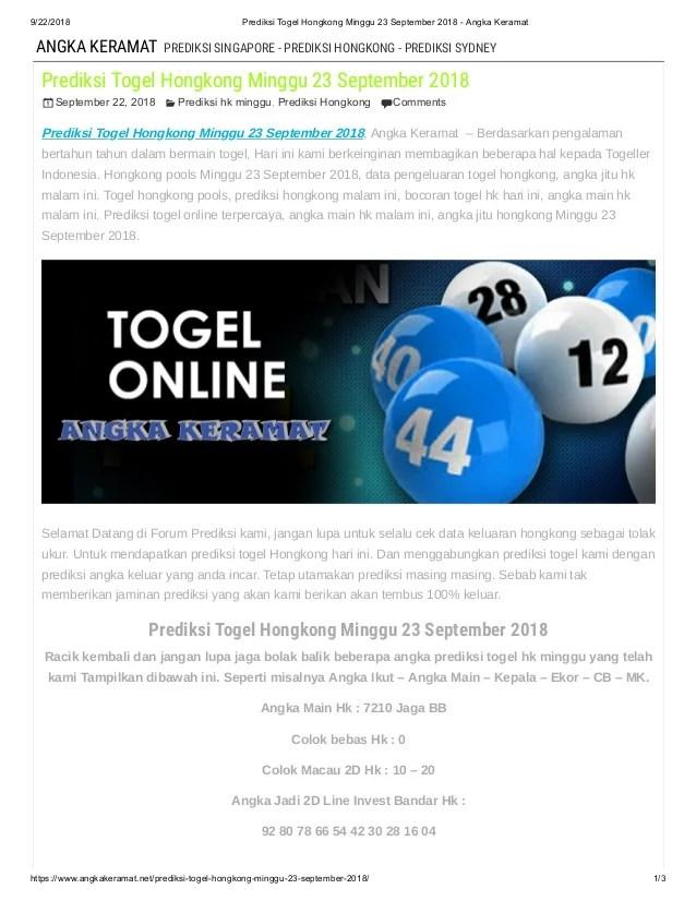 Prediksi Hk Pools Malam Ini : prediksi, pools, malam, Prediksi, Togel, Hongkong, Minggu, September