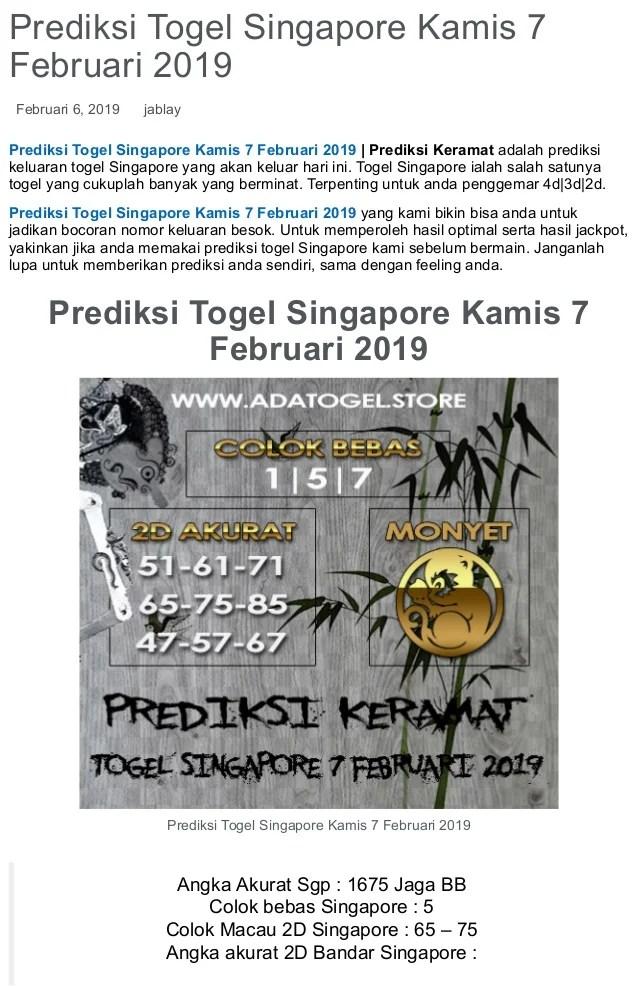 Togel Sgp Besok : togel, besok, Prediksi, Togel, Singapore, Kamis, Februari