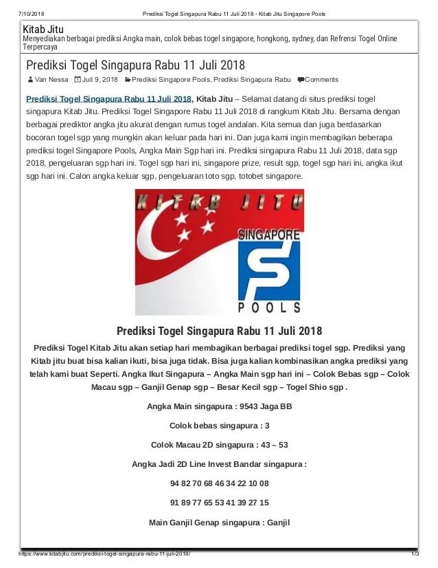 Prediksi Angka Jitu Singapura : prediksi, angka, singapura, Prediksi, Togel, Singapura, Kitab, Singapore, Poo…