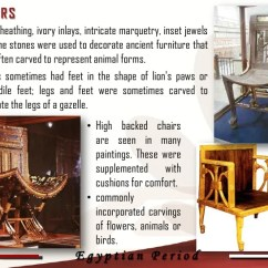 High Backed Throne Chair Aviator Replica Prehistoric & Egyptian Era