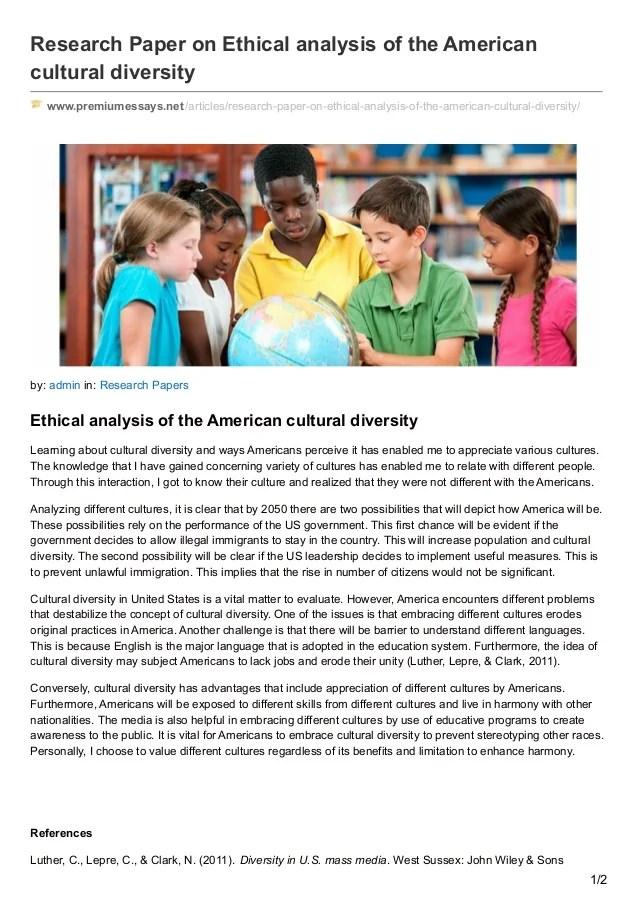 Cultural Pluralism Us