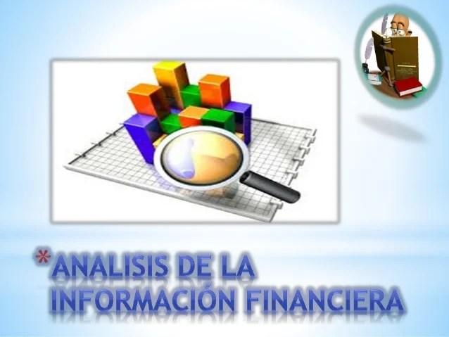 AnÁlisis De La InformaciÓn Financiera