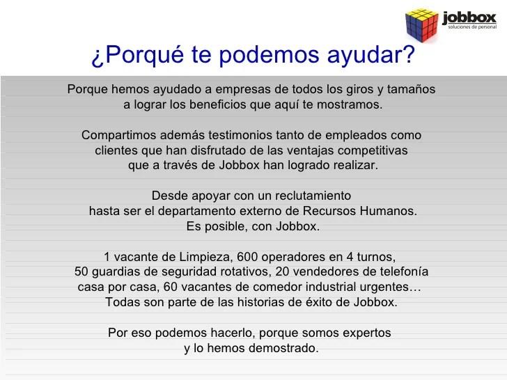 Que hace Jobbox Soluciones de Personal por mi empresa