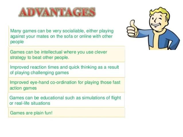 Video Games Advantages And Disadvantages