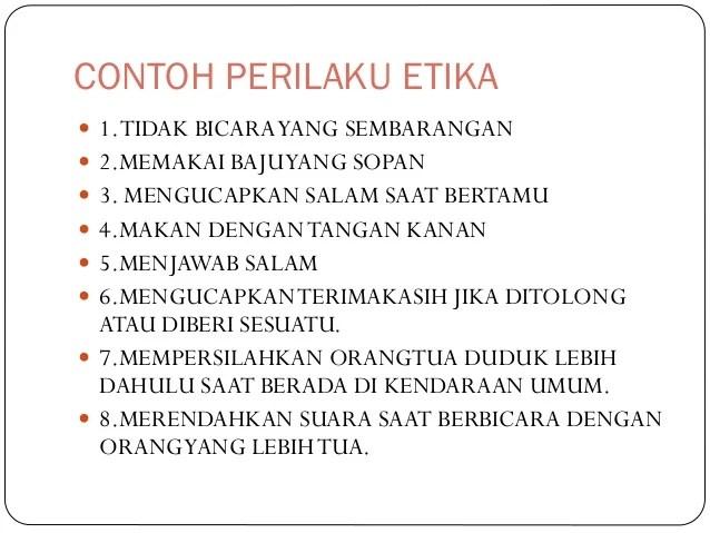 Presentasi etika