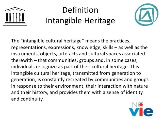 The UNESCO convention of the intangible cultural heritage  Albert Va