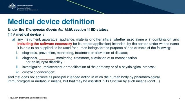 Regulation of software as medical devices