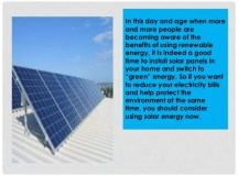 5 Reasons Why You Should Install Solar Panels and Use ...
