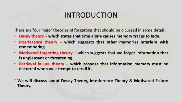 Forgetting Theory