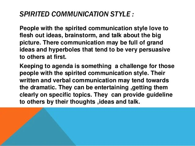 Communication style .English
