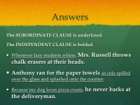 All Worksheets  Independent And Dependent Clauses ...