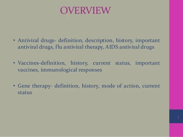 Antiviral Drugs Vaccines and Gene Therapy
